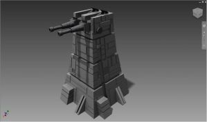 XX-10 Turbolaser Tower by ExoticcTofu