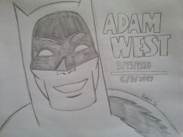 Adam West (1928 - 2017) by RobertGDraws