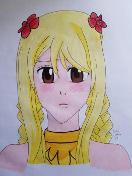 Fairy Tail - Lucy Heartfilia - Ink Marker by 00Hellsing00