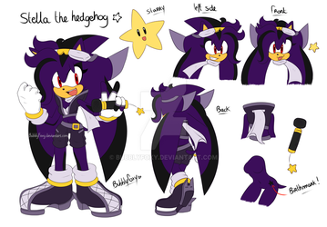 Stella the hedgehog reference 2017 by BubblyFoxy