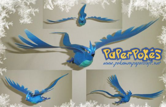 Articuno Swoop Papercraft by Carnilmo