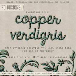PS Style: COPPER VERDIGRIS by HGGraphicDesigns