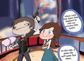 Basically, the second third of Bioshock Infinite by Dynneekx