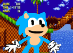 Terrible drawing of classic sonic