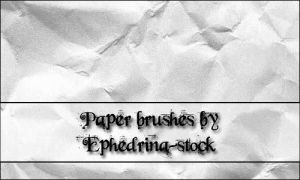 Paper brushes by ephedrina-stock
