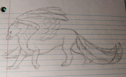 Griffin doodle by Puppethoughts
