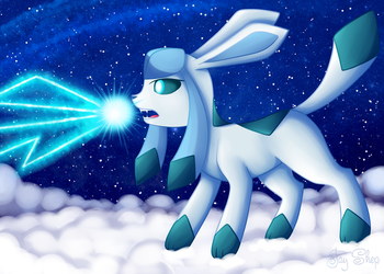 Glaceon Ice Beam by Jay-Shep