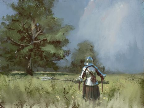 Knight study by Lyno3ghe