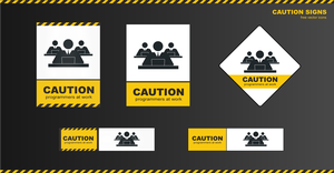 Caution signs - programmers at work by jozef89