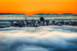 San Francisco, on clouds by alierturk