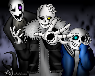 Gastersans, Gaster and  Sans - We are watching you by xxAmilychanxx