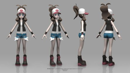 Pokemon Black and White - Hilda by TheRealValce