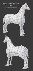 Horse model by YeshuaNel