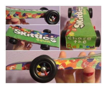 Sour Skittles Derby Car by izzyo816