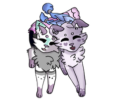 (Comm) Pierrot and Madita by Japanblossom