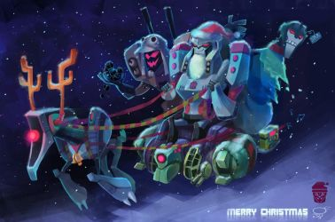 Christmas with Decepticon by zgul-osr1113