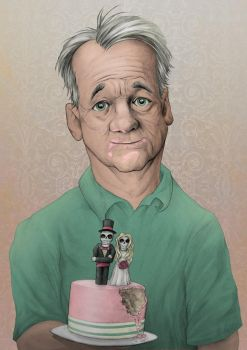 Bill Murray by awolfillustrations