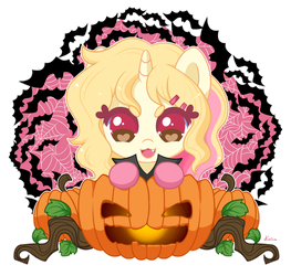 Nina the little Pumpkin Vampire! by FoxSmileArts