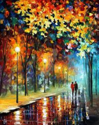 The Warmth Of Friends by Leonid Afremov by Leonidafremov