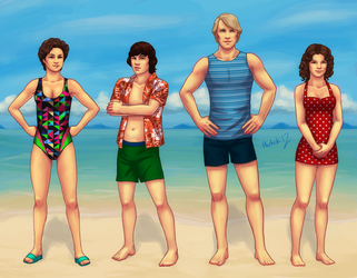 12 Team Fivey at the beach by harbek
