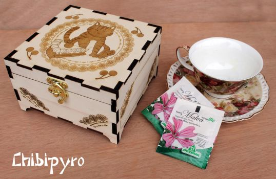 Wooden Tea Box by ChibiPyro
