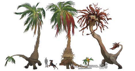 Fun with Pokemon VII - More Exeggutor by manic-in-tricolour