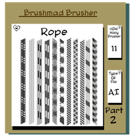 Illustrator Shoe Lace Rope brushers part 2 by brushmad
