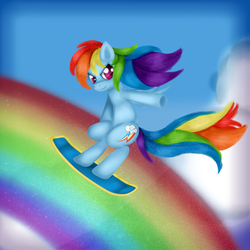 The Rainbow Surfer by Kirajoleen