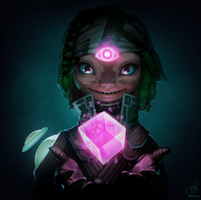 Guild Wars 2 Portrait Commissions - Asura Mesmer by jylgeartooth