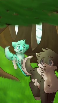 Sky and Marley Wallpaper by Horsefinity