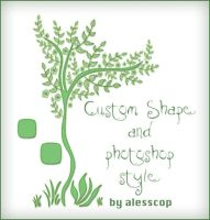 Flowered tree custom shapes by alesscop