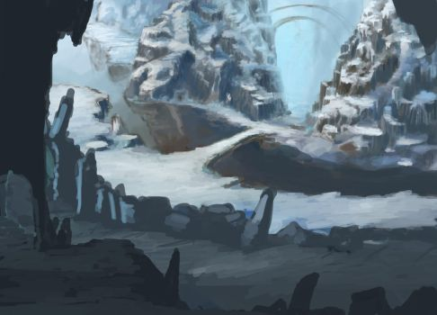 Snowy Mountains (Old WIP) by MaroonIllustrator