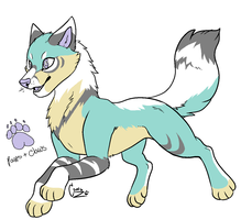 Blue wolf Auction SB: 1pt (CLOSED) by Li0nless