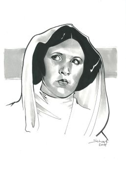 Leia sketch by JonasScharf