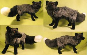 Silver Fox Plush Toy by Jarahamee