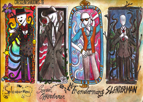 The Slender Brothers by crescentshadows19
