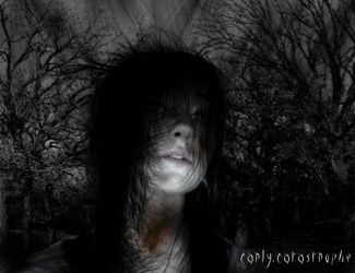 creepy forest by carly-catastrophe