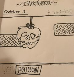 Inktober- Oct 3~Poison~ by Princ3ssWolfi3