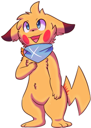 Neon The Pikachu by Zander-The-Artist