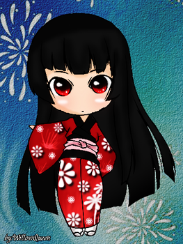Chibi Enma Ai by willowqueen