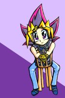 Yugi In a Chair by michelle192837