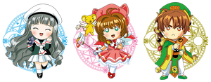 Chibi Card Captor Sakura by PolarStar