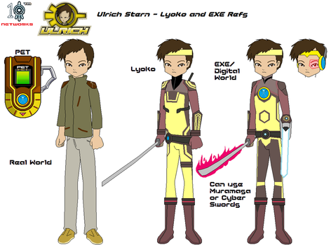 Ulrich Stern - Lyoko and EXE Refs. by 10Networks