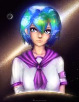 Earth Chan by CrazyGhostle