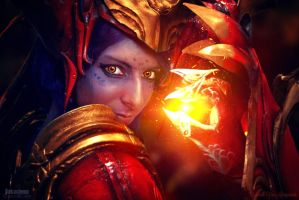 Shyvana cosplay - League of Legends 03 by Chimeral-CosplayArt