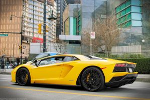 Yellow Aventador LP740 S by SeanTheCarSpotter