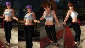 Kasumi and Ayane mix by funnybunny666