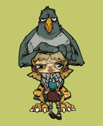 Bird and Girl Digital Color by humangarbage