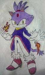 Blaze The Cat by TheOneAndOnlyCactus