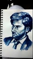 david tennant water color by pkmarie